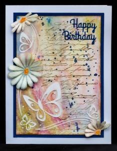 Vodovky a narodeninová karta
