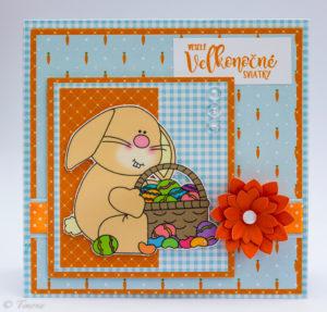 Karta s veľkonočným zajačikom