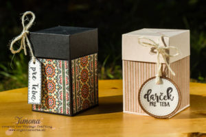 Darčeková krabička s vyťahovacím vrchnákom