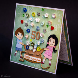 Narodeninová karta pre ocina od detí