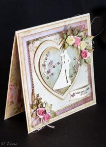 Svadobná blahoprajná pohľadnica