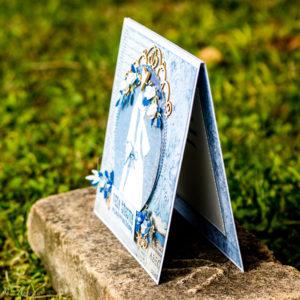 Modrá svadobná pohľadnica